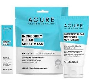 Acure natural skincare line for acne